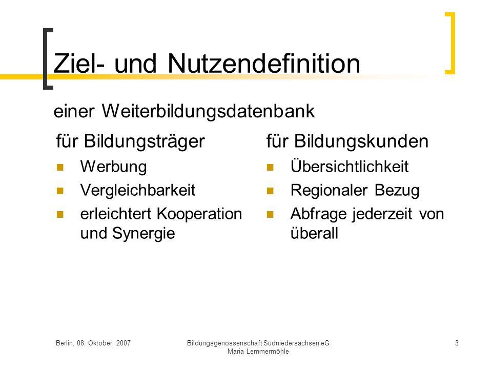 Ziel- und Nutzendefinition