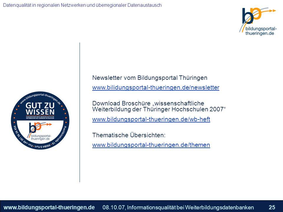 Newsletter vom Bildungsportal Thüringen