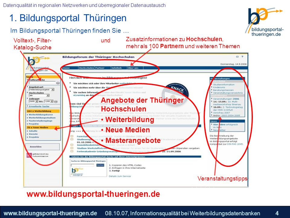 Im Bildungsportal Thüringen finden Sie …