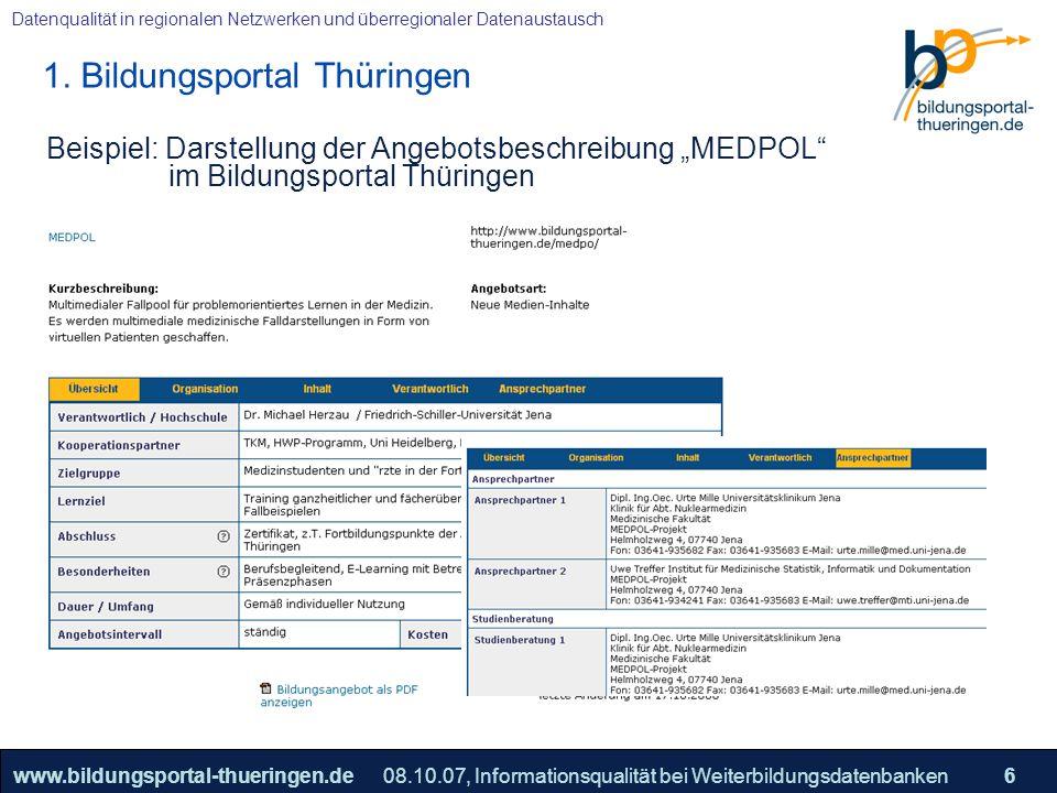 1. Bildungsportal Thüringen
