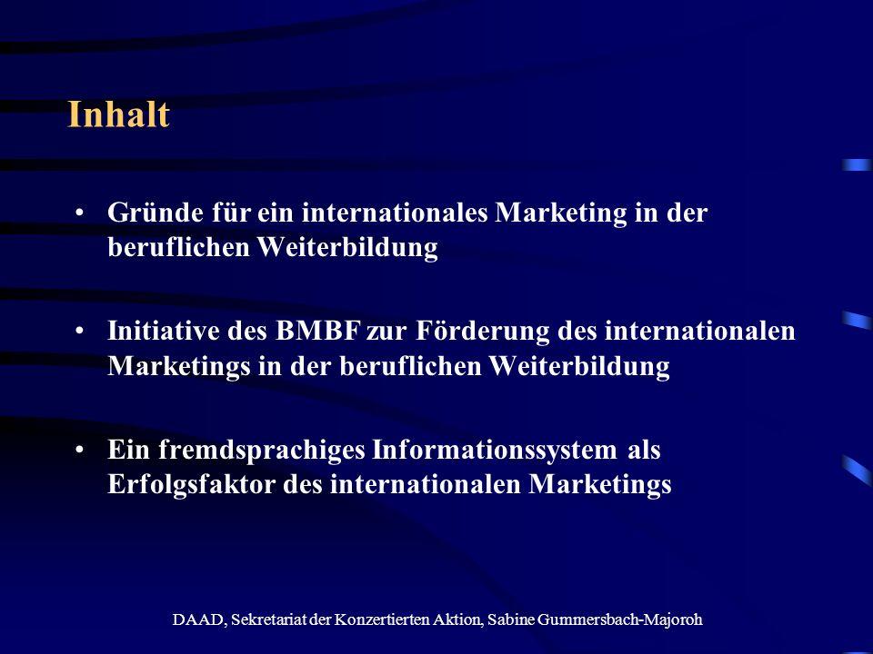DAAD, Sekretariat der Konzertierten Aktion, Sabine Gummersbach-Majoroh