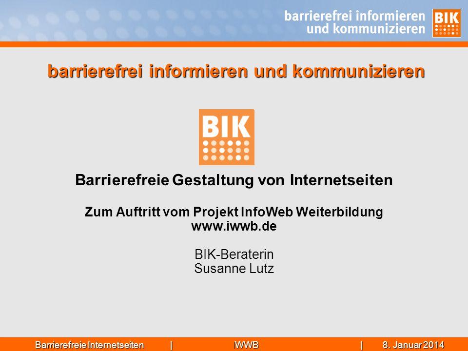 barrierefrei informieren und kommunizieren