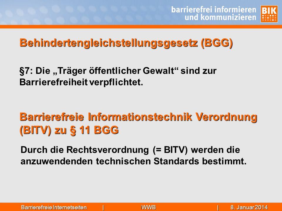 Behindertengleichstellungsgesetz (BGG)