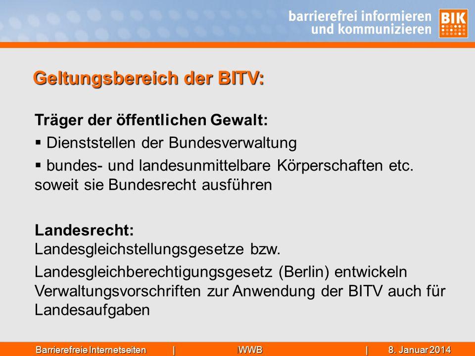 Geltungsbereich der BITV: