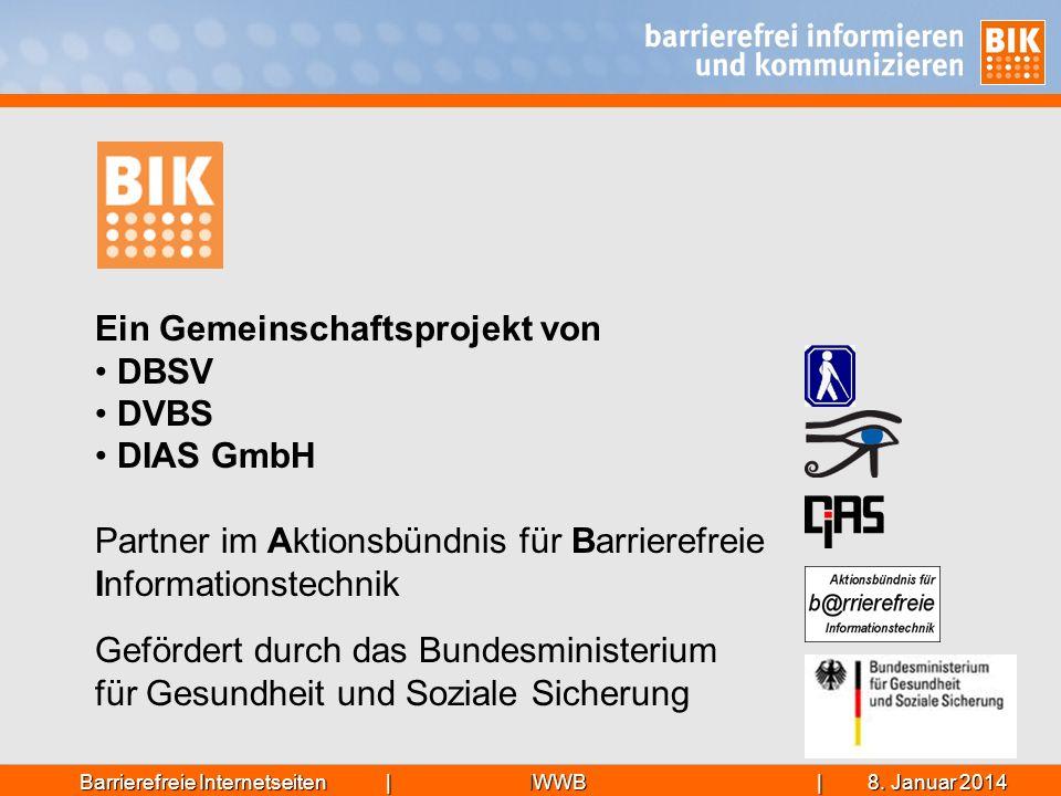 Ein Gemeinschaftsprojekt von DBSV DVBS DIAS GmbH