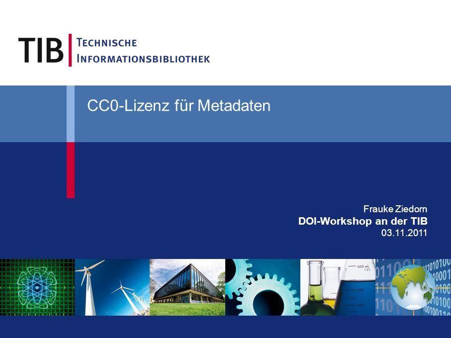 CC0-Lizenz für Metadaten