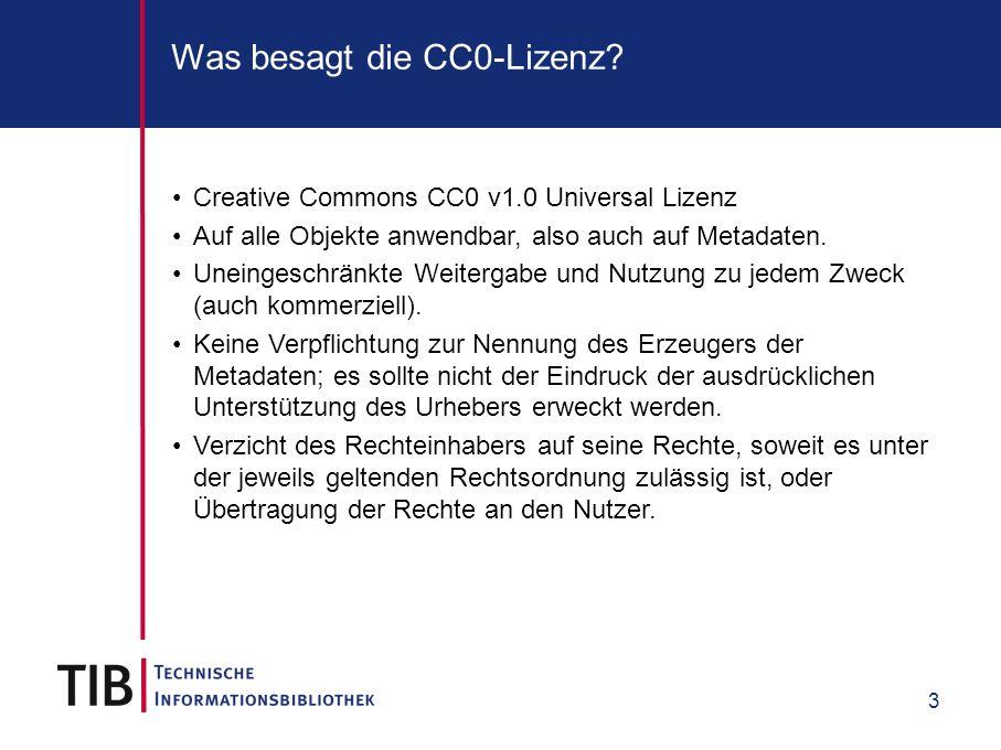Was besagt die CC0-Lizenz