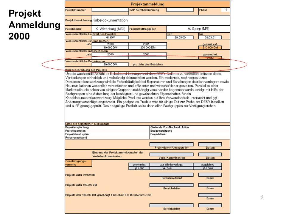 Projekt Anmeldung 2000 6