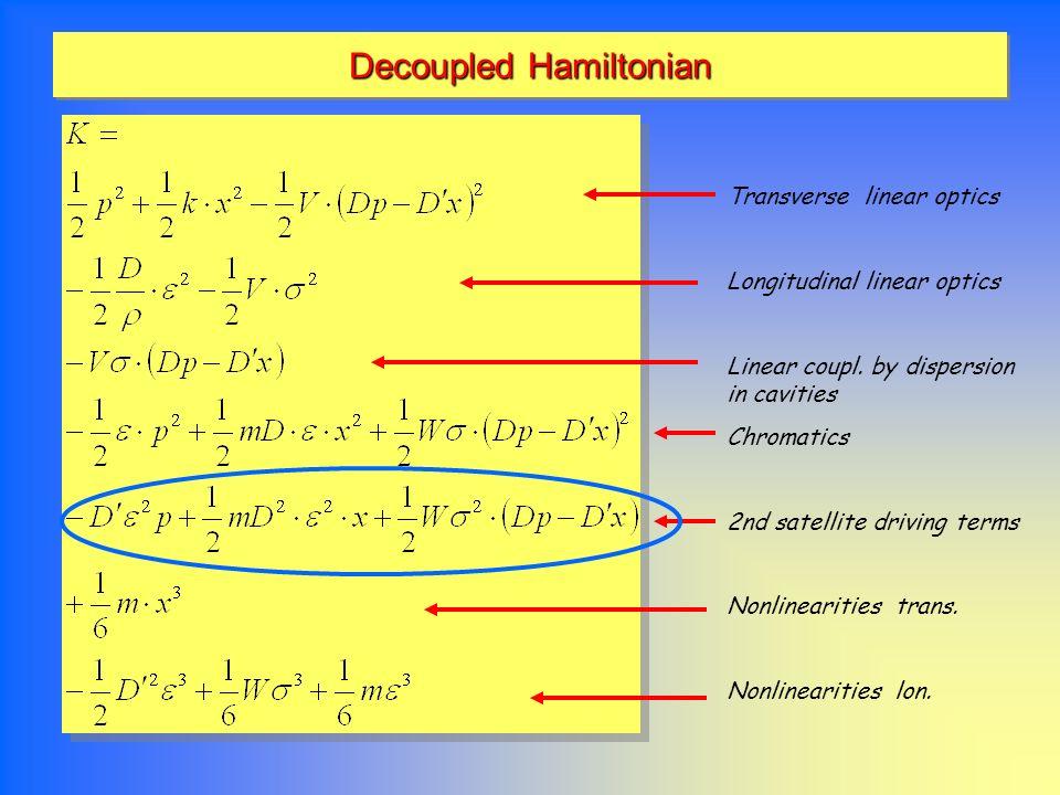 Decoupled Hamiltonian
