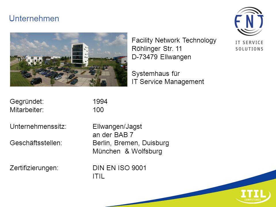 Unternehmen Facility Network Technology Röhlinger Str. 11