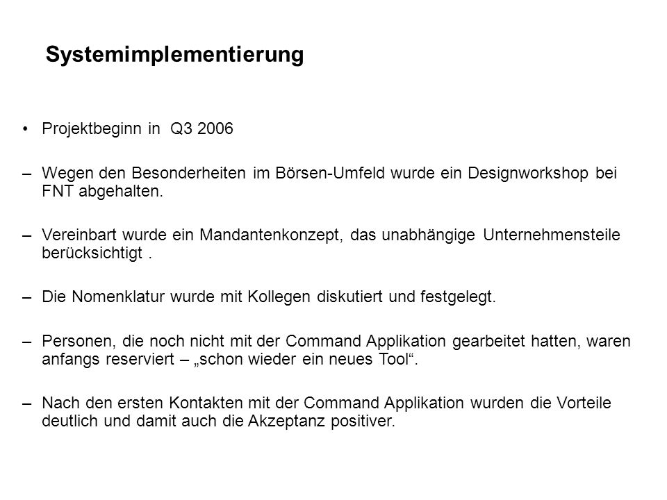Systemimplementierung