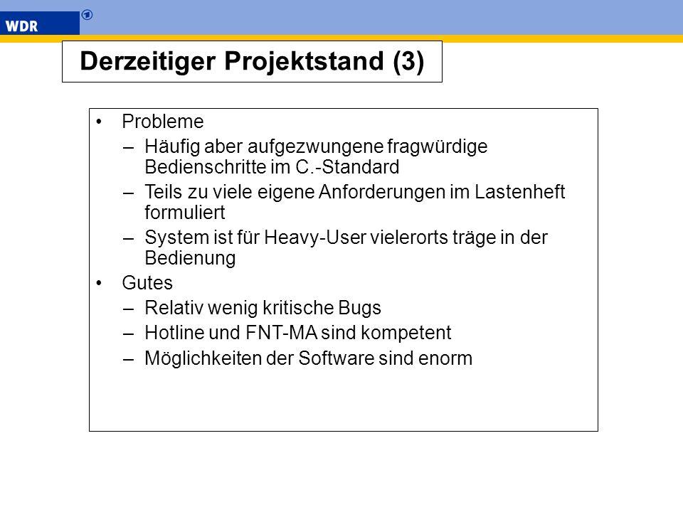 Derzeitiger Projektstand (3)