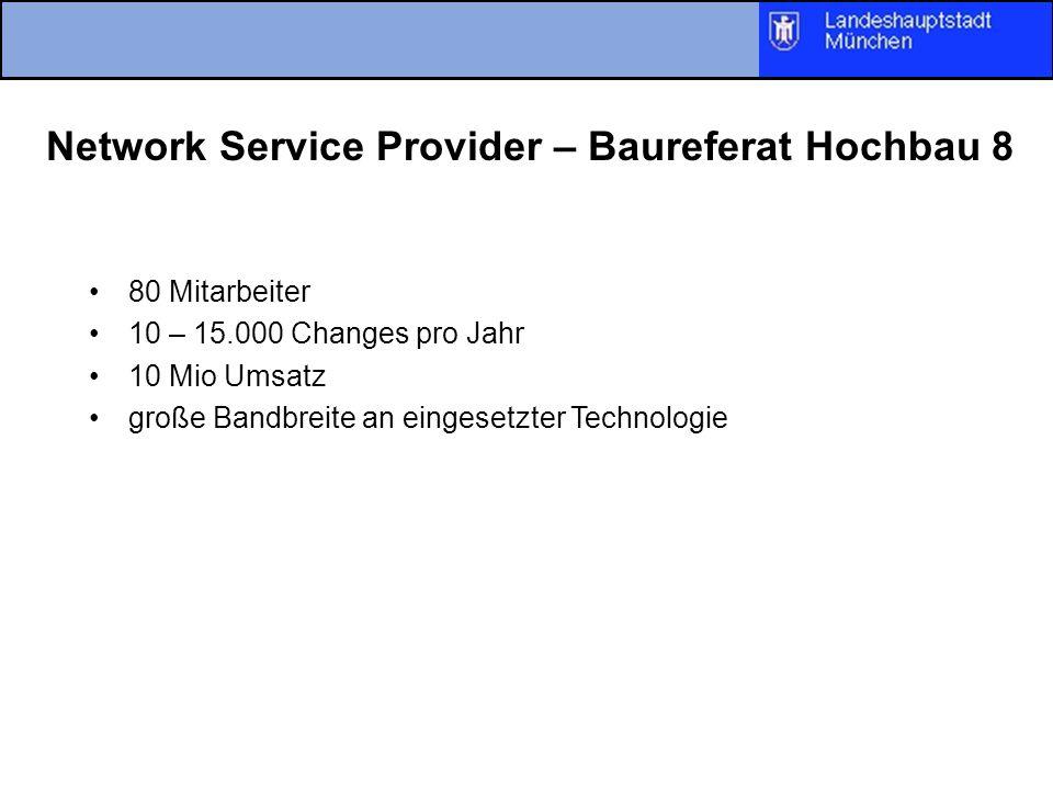 Network Service Provider – Baureferat Hochbau 8