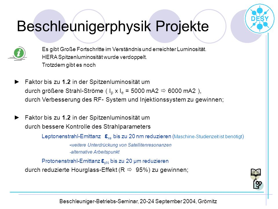 Beschleunigerphysik Projekte