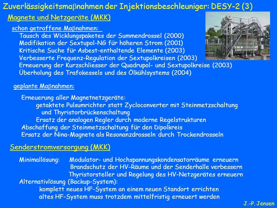 Zuverlässigkeitsmanahmen der Injektionsbeschleuniger: DESY-2 (3)