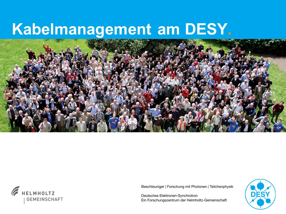 Kabelmanagement am DESY.