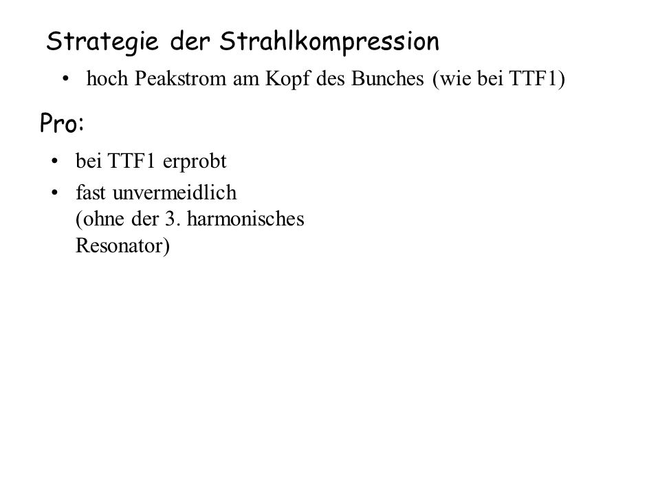 Strategie der Strahlkompression