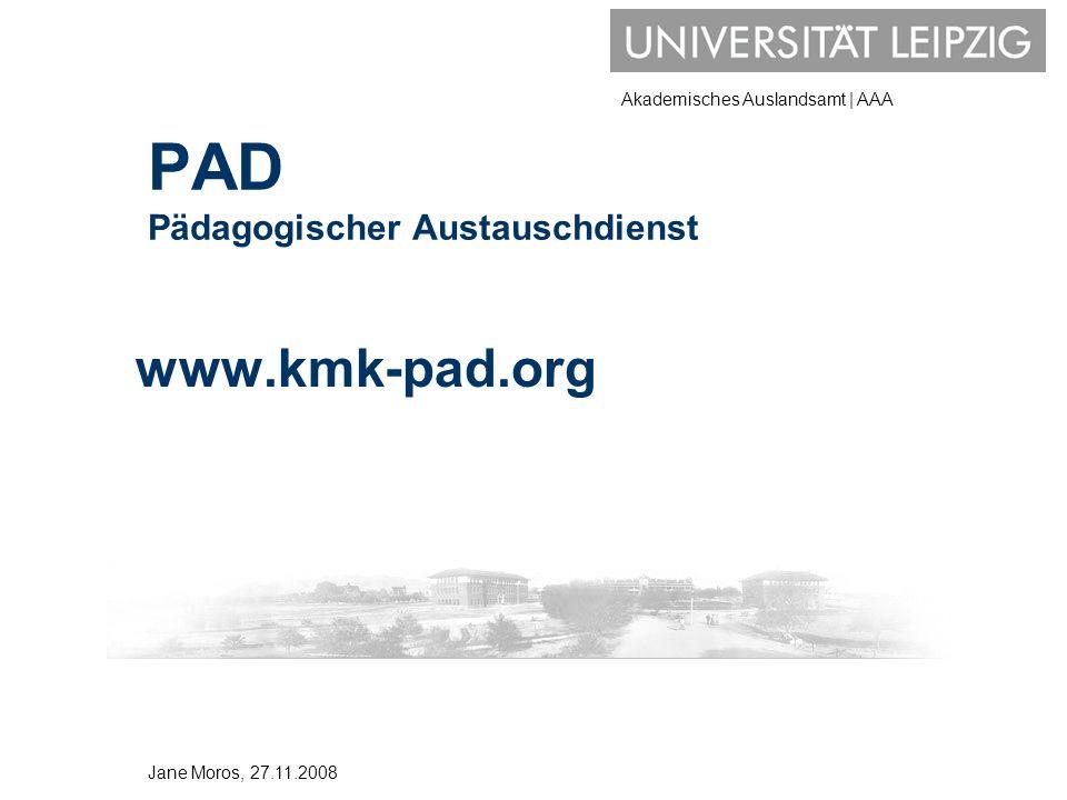 PAD Pädagogischer Austauschdienst