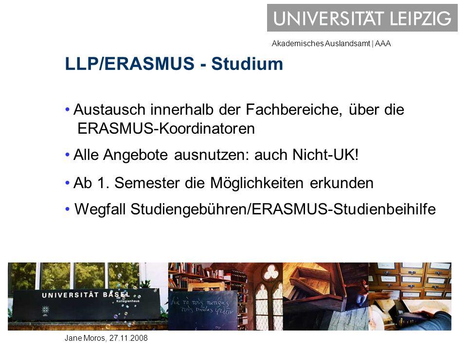 LLP/ERASMUS - Studium Austausch innerhalb der Fachbereiche, über die