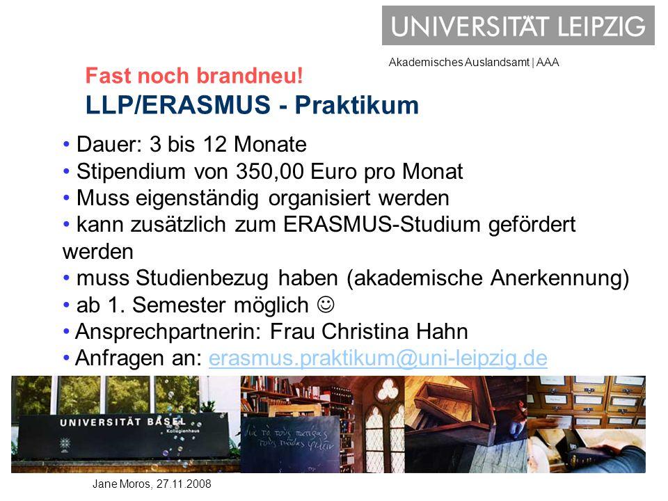 Fast noch brandneu! LLP/ERASMUS - Praktikum