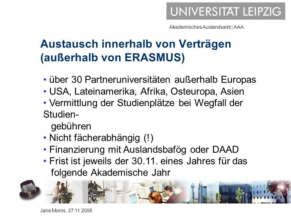 Austausch innerhalb von Verträgen (außerhalb von ERASMUS)