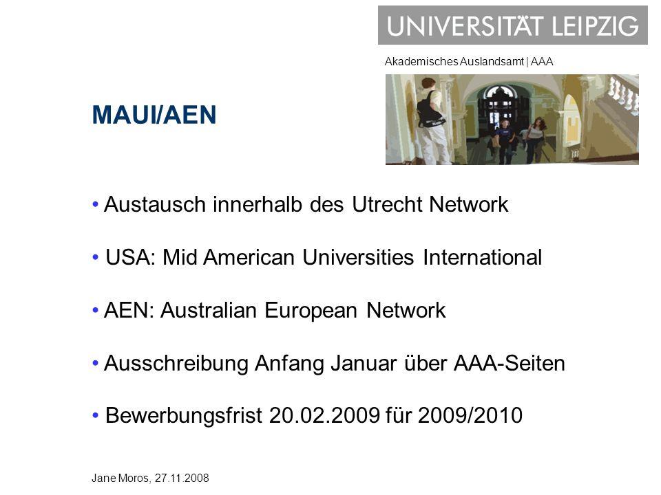 MAUI/AEN Austausch innerhalb des Utrecht Network