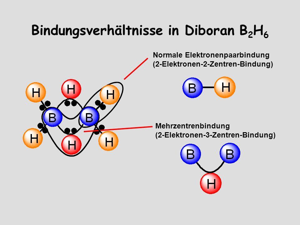 Bindungsverhältnisse in Diboran B2H6