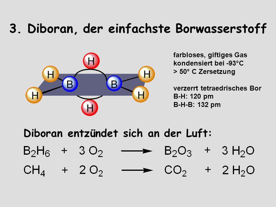 3. Diboran, der einfachste Borwasserstoff