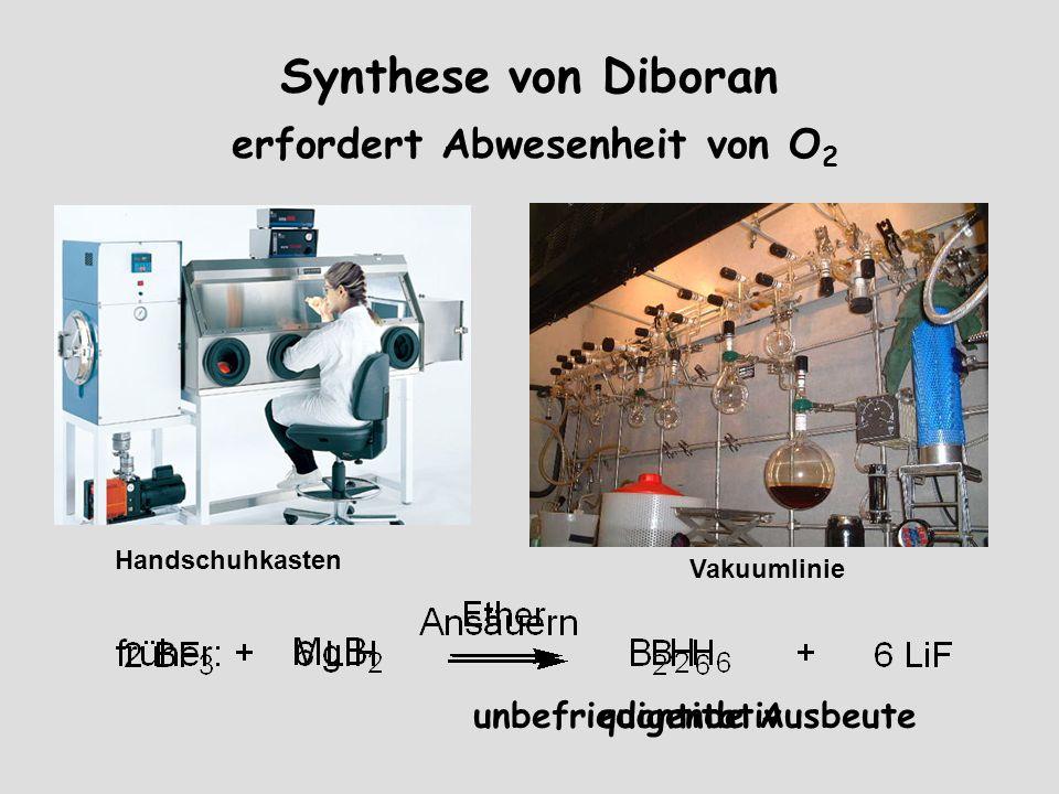 Synthese von Diboran erfordert Abwesenheit von O2
