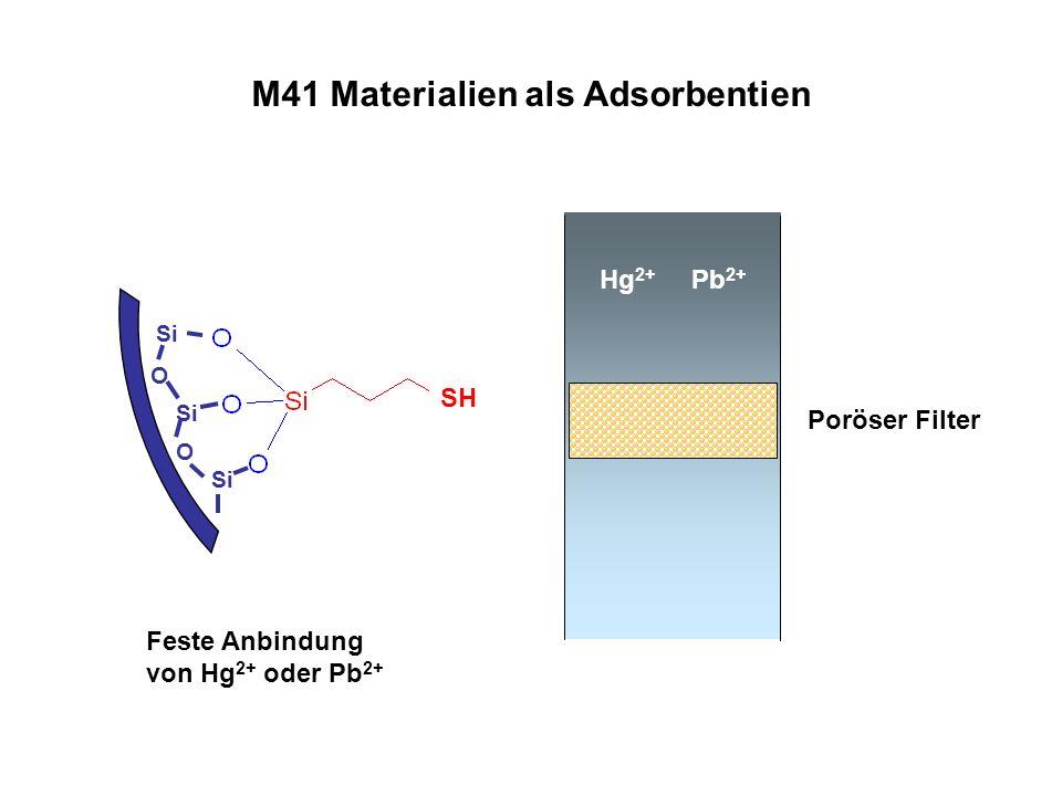 M41 Materialien als Adsorbentien