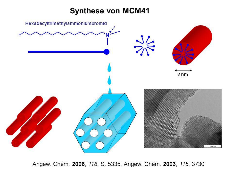 Synthese von MCM41Hexadecyltrimethylammoniumbromid.
