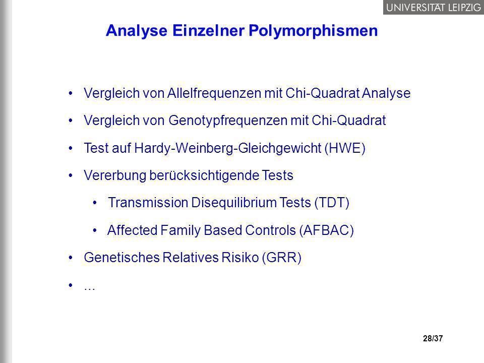 Analyse Einzelner Polymorphismen
