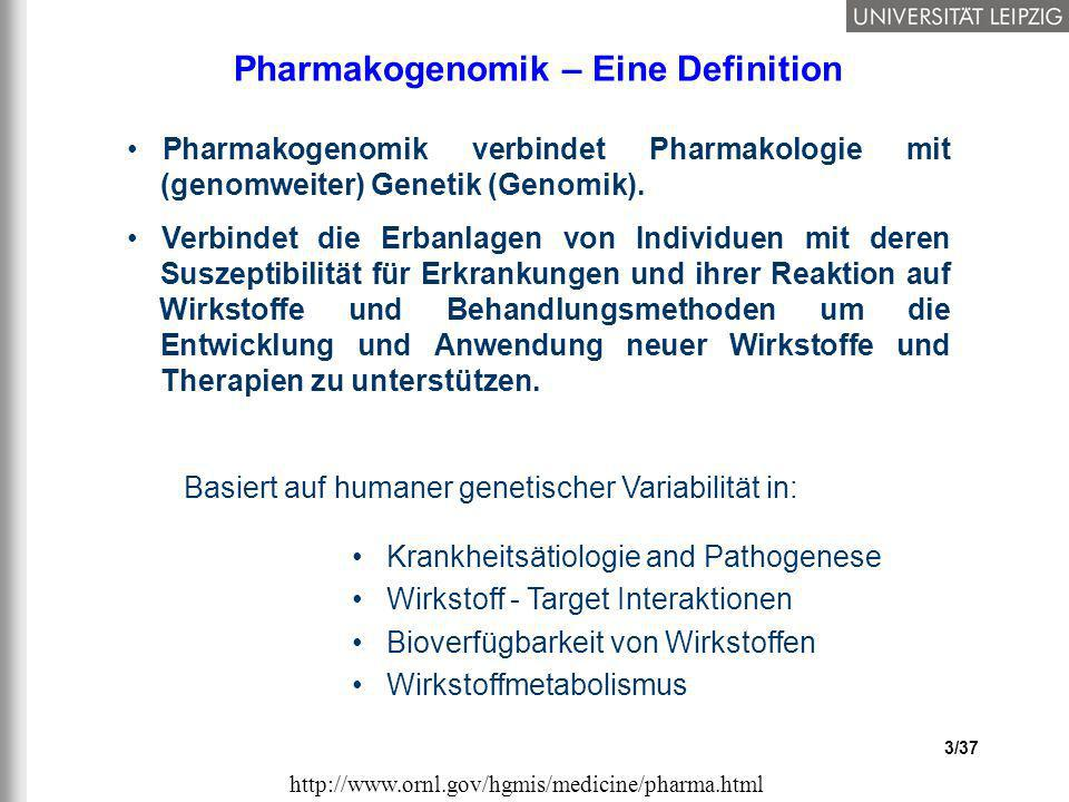 Pharmakogenomik – Eine Definition