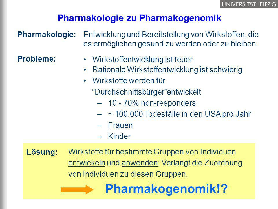 Pharmakologie zu Pharmakogenomik