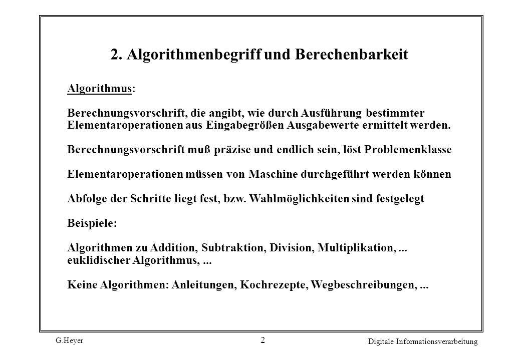 2. Algorithmenbegriff und Berechenbarkeit
