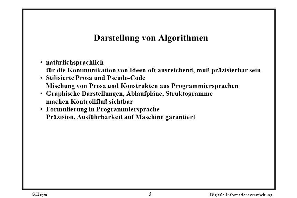 Darstellung von Algorithmen