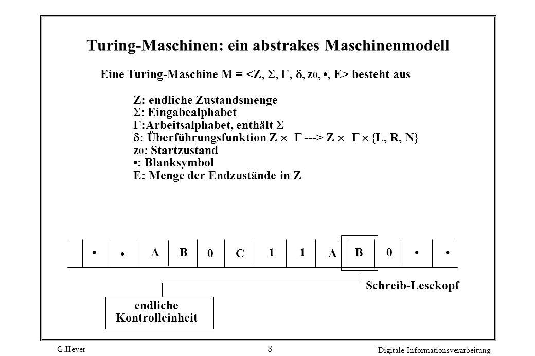 Turing-Maschinen: ein abstrakes Maschinenmodell