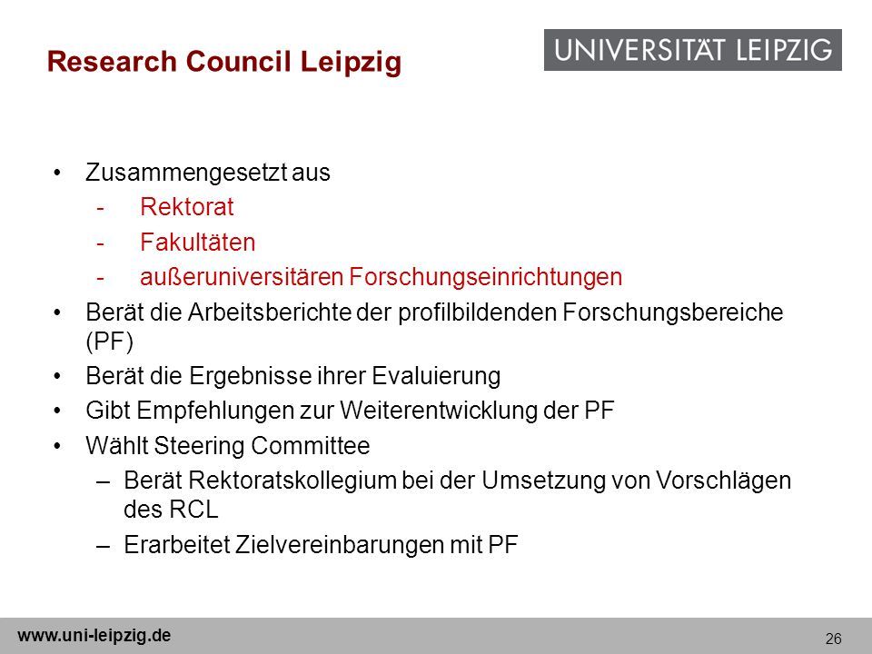 Research Council Leipzig