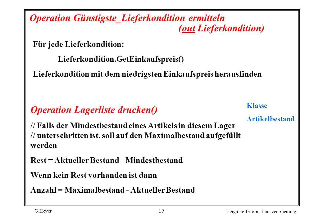 Operation Günstigste_Lieferkondition ermitteln (out Lieferkondition)