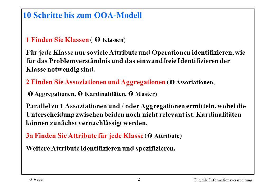 10 Schritte bis zum OOA-Modell