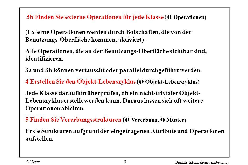 3b Finden Sie externe Operationen für jede Klasse ( Operationen)