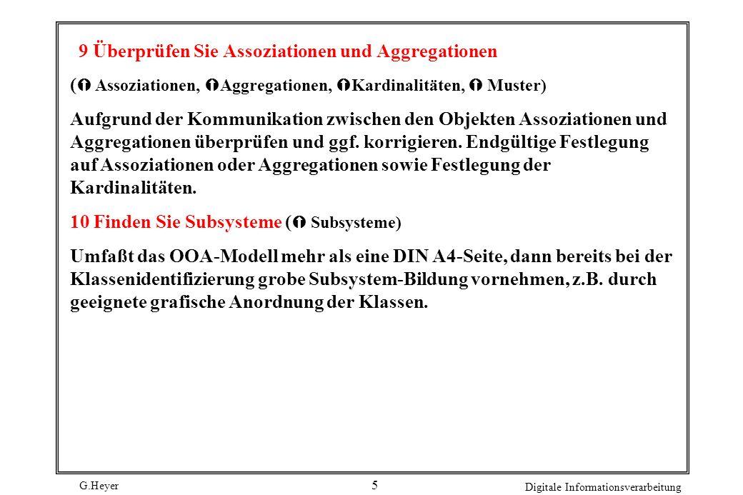 9 Überprüfen Sie Assoziationen und Aggregationen