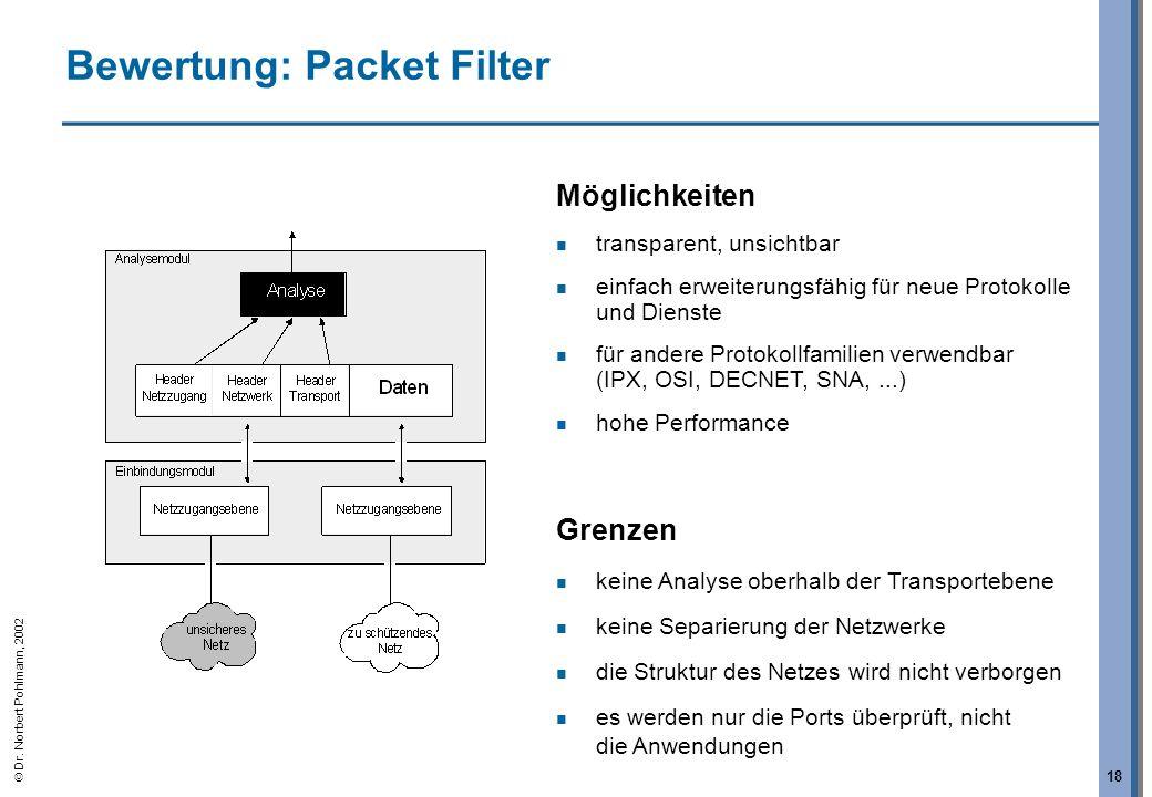 Bewertung: Packet Filter