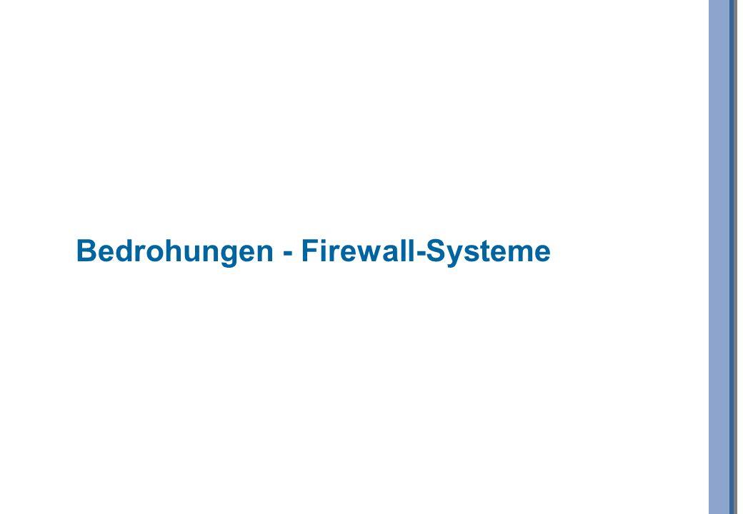 Bedrohungen - Firewall-Systeme