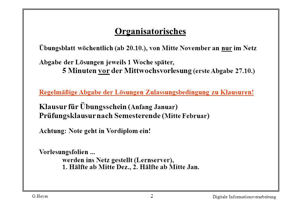 Organisatorisches Klausur für Übungsschein (Anfang Januar)