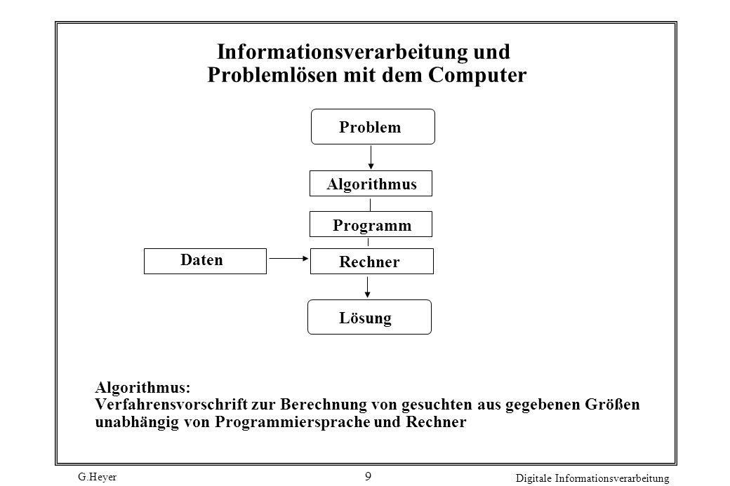 Informationsverarbeitung und Problemlösen mit dem Computer