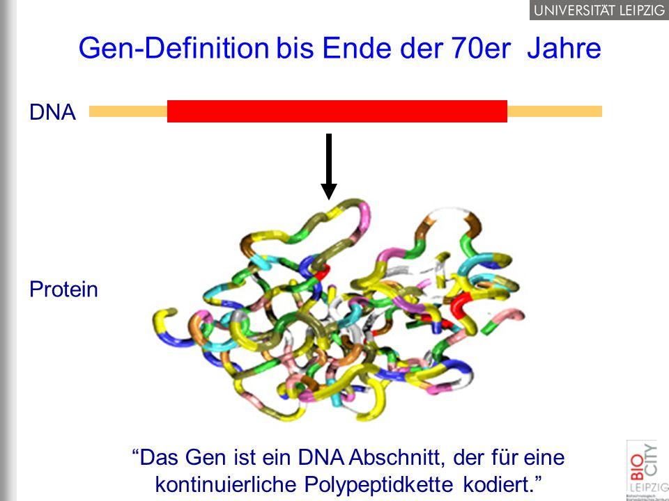 Gen-Definition bis Ende der 70er Jahre