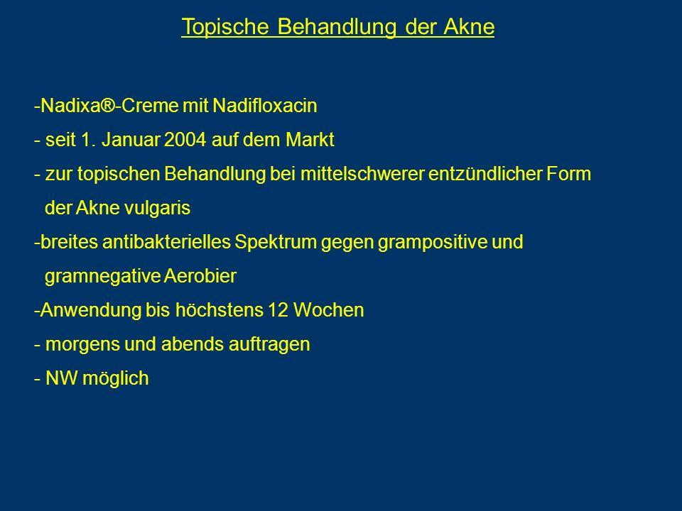 Topische Behandlung der Akne