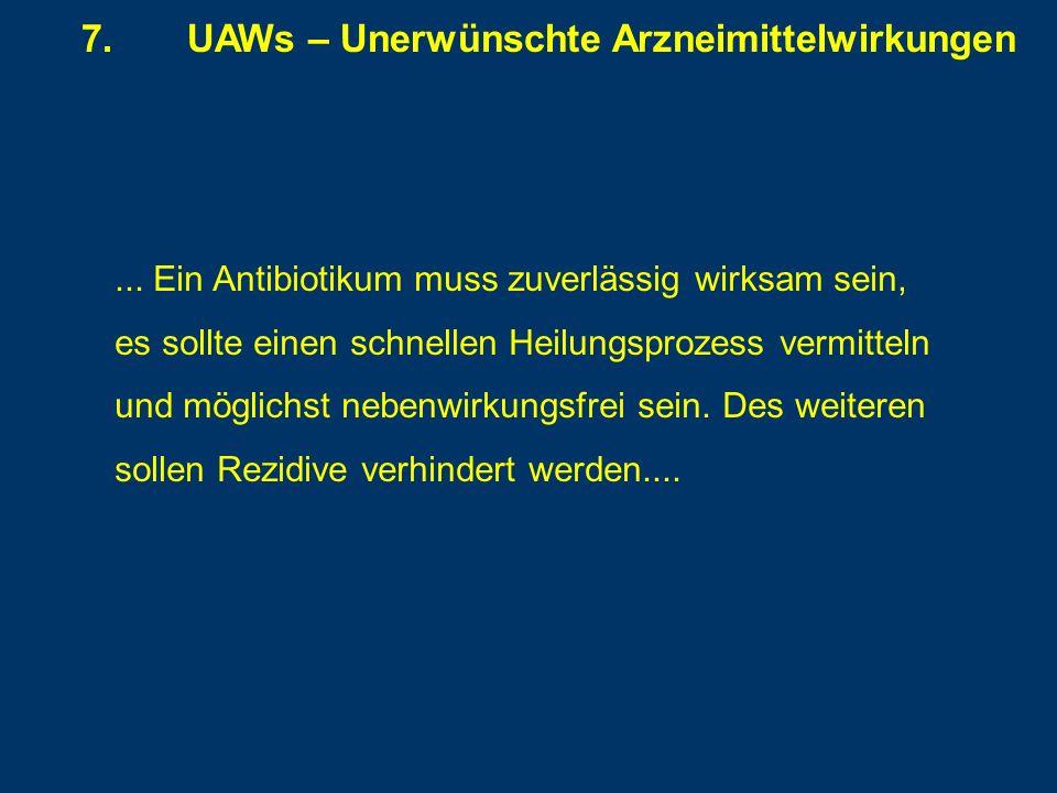 7. UAWs – Unerwünschte Arzneimittelwirkungen