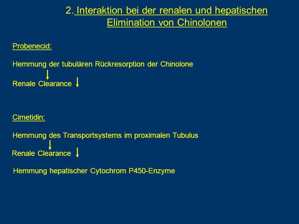 2. Interaktion bei der renalen und hepatischen